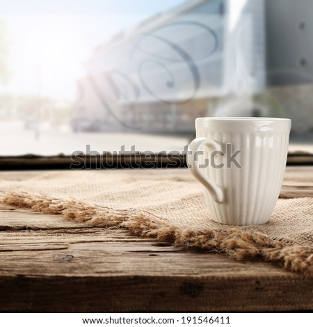 cafe in city  - stock photo