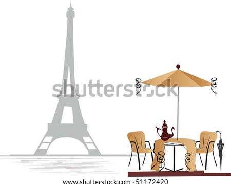 Cafe in Paris - stock photo