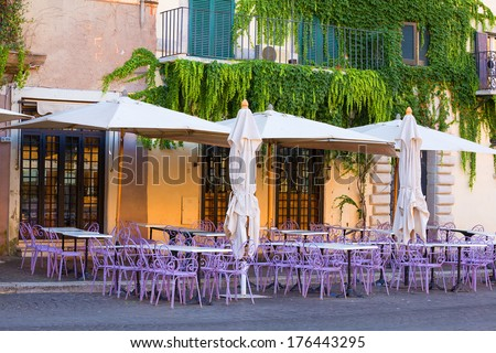 cafe in piazza Navona. Rome. Italy.  - stock photo