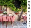 Cafe in Provence - stock photo