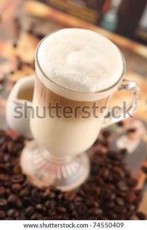 cafe latte - stock photo