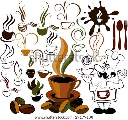 cafe menu icon - stock photo