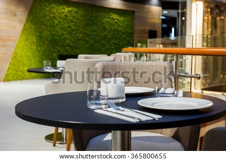 cafe or restaurant Interior with table