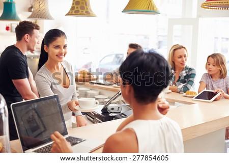 Cafe scene - stock photo