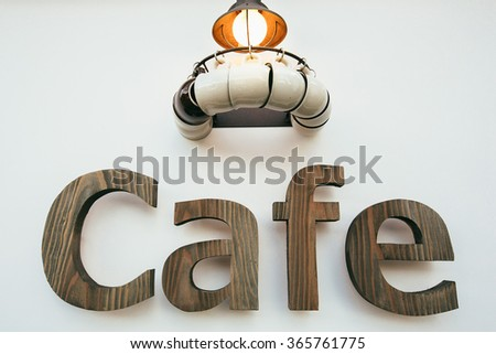 Cafe Sign - stock photo