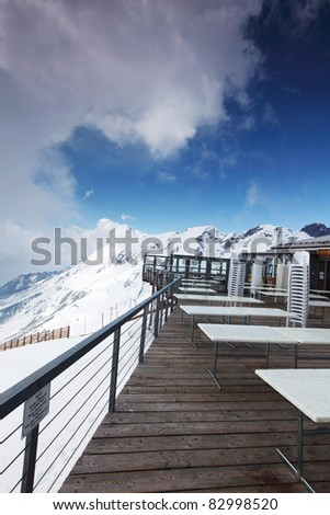 caffe on the top - stock photo