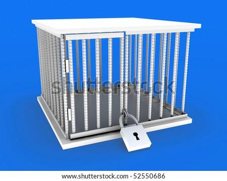 Cage. - stock photo