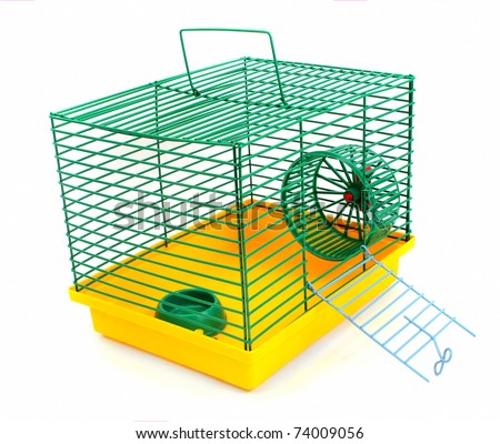 Clipart Hamster Cage Cage For a Hamster on a White