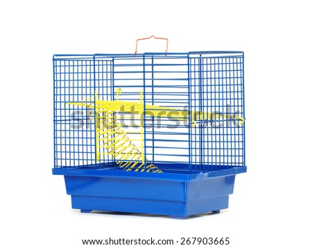 cage isolated on the white background - stock photo