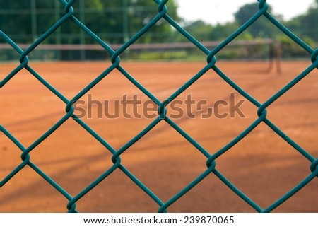 cage of tennis court