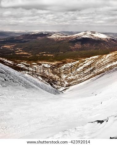 Cairngorm Mountains, Scotland - stock photo