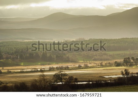 Cairngorm National Park, Highlands of Scotland - stock photo