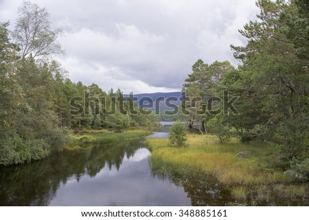 Cairngorm National Park, Inverness Scotland   - stock photo