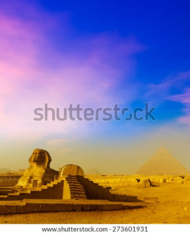 Cairo at sunrise, Egypt - stock photo
