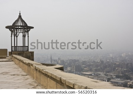 Cairo cityscape from the Alabaster Mosque - stock photo