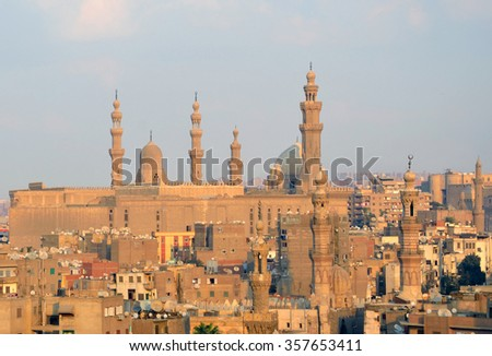 CAIRO - DECEMBER 9 2015: Islamic Cairo is a part of central Cairo and there are historically important mosques,mausoleums and monuments.