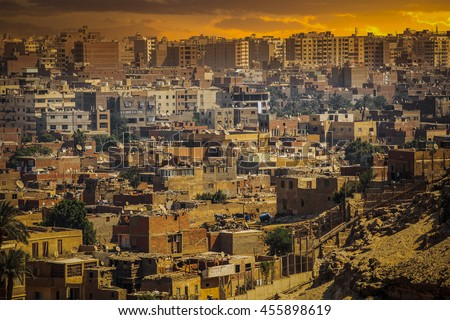 Cairo, Egypt. Largest city in Africa. picturesque landscape