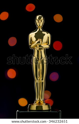 CAIRO, EGYPT - March 03, 2015: A Replica of the Academy Award Trophy Photographed in Local Bazaar, DOWN TOWN  - stock photo