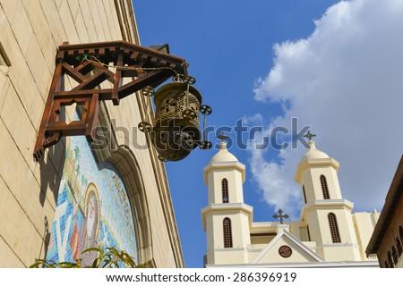 Cairo, Egypt - Saint Virgin Mary Coptic Orthodox Church  - stock photo
