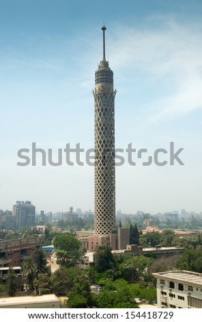 CAIRO - MAY 7: City view of Cairo tower on May 7, 2013, Egypt. Cairo - the capital of Egypt and the largest city in the Arab world and Africa. - stock photo