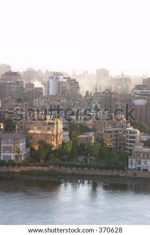 Cairo sunset - stock photo