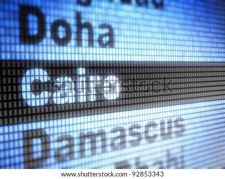 Cairo. World capitals  Full collection of icons like that is in my portfolio - stock photo