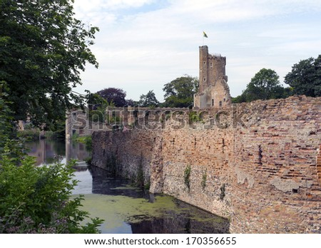 Caister Castle Caister Norfolk UK near Great Yarmouth - stock photo