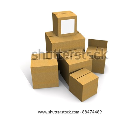 cajas de carton - stock photo