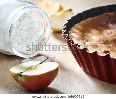 Cake and baking ingredients - stock photo