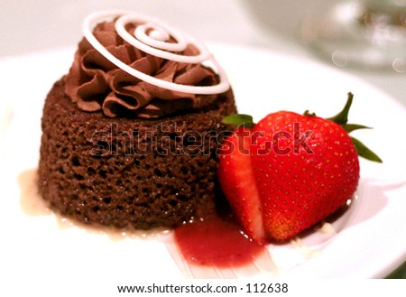 Cake and Strawberry
