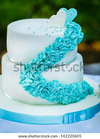 Cake at Wedding Reception - stock photo
