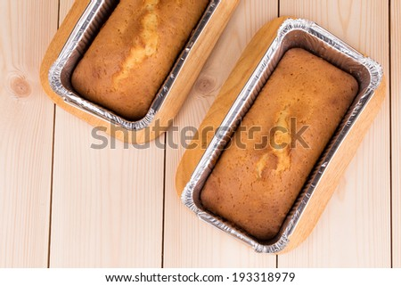 Cake baked in form close up. Whole background. - stock photo