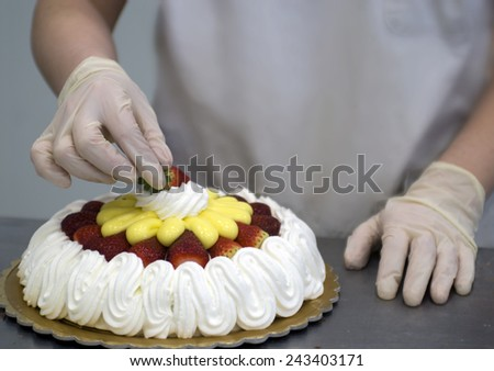 cake decoration - stock photo