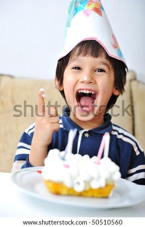 cake happiness - stock photo