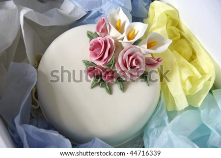 Cake in a box - stock photo