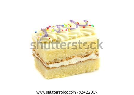 Cake isolated in white background - stock photo