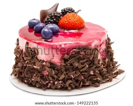 cake isolated on white background - stock photo