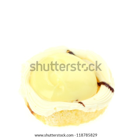 cake on white background