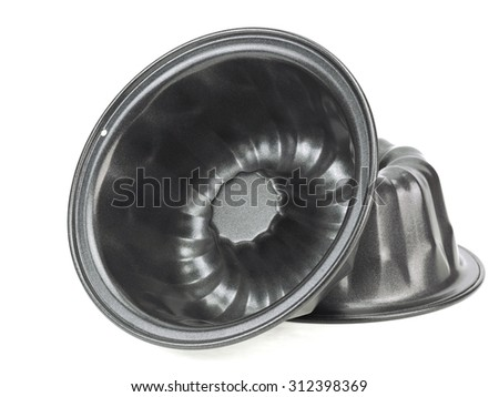 Cake pan on a white background  - stock photo