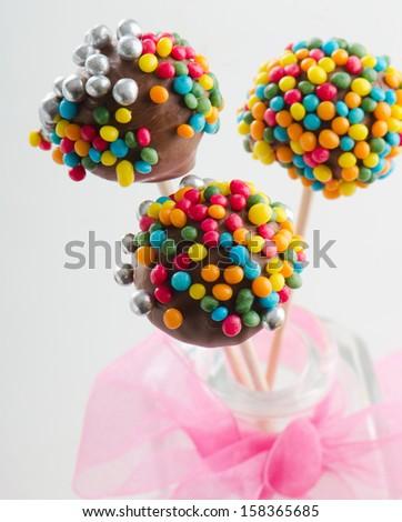 Cake pops . Selective focus - stock photo