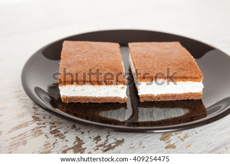 Cake sandwich - wafer ice cream dessert