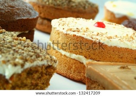 cake selection - stock photo