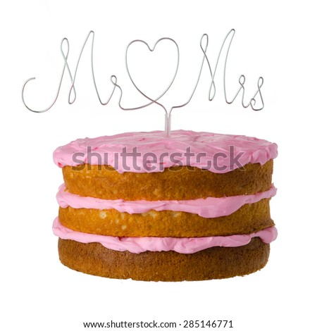 Cake sign isolated on white background - stock photo