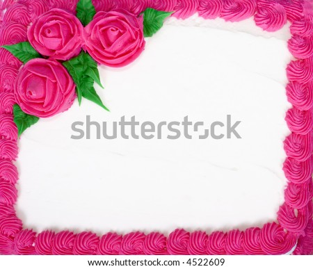 Cake that can be used for many purposes - blank to add you message - use as a background - stock photo