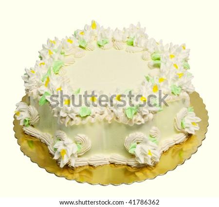 Cake with cream - stock photo