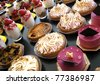 Cakes and sweets in a bakery - stock photo