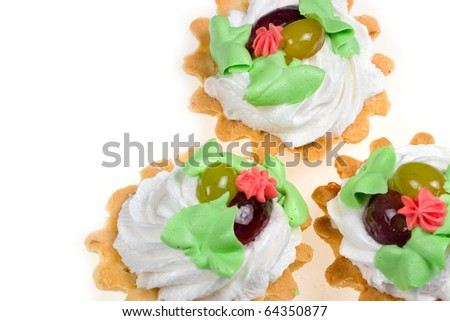Cakes  isolated on a white background