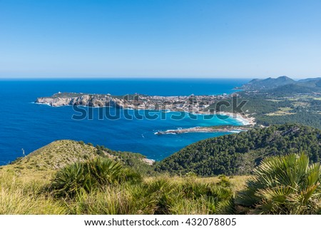 Cala Agulla and beautiful coast at Cala Ratjada of Mallorca, Spain