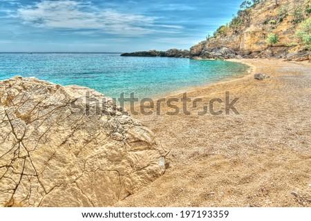 Cala Biriola in hdr tone, Sardinia - stock photo