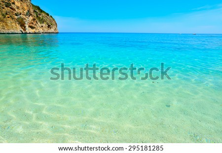 Cala Biriola on a clear summer day. Shot in Sardinia, Italy - stock photo